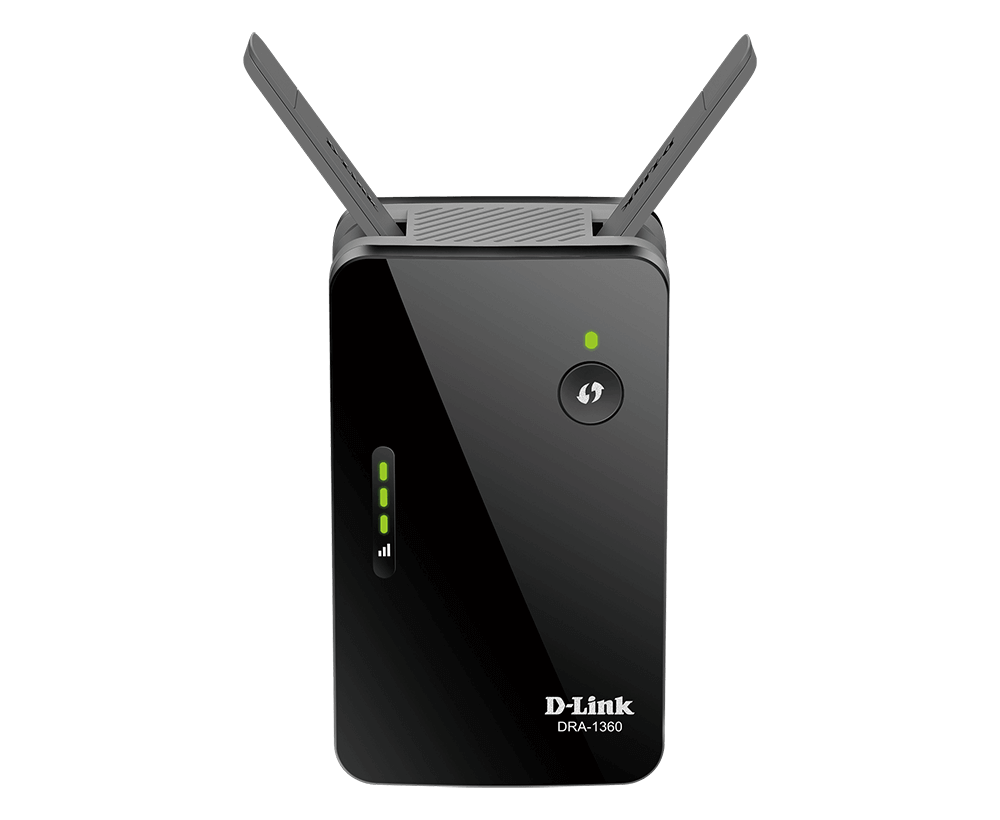 DAP-1955-US D-Link WiFi Range Extender Mesh Gigabit AC1900 Dual Band Plug in Wall Signal Booster Wireless or Ethernet Port Smart Home Access Point