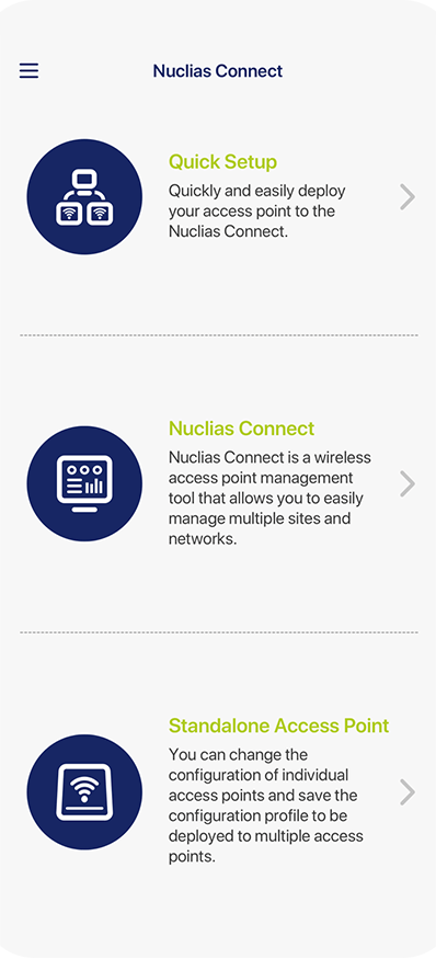 Nuclias Connect App Screenshot