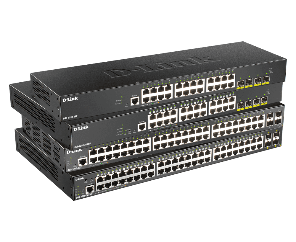 DGS-1250 Series 10-Gigabit Smart Managed Switches