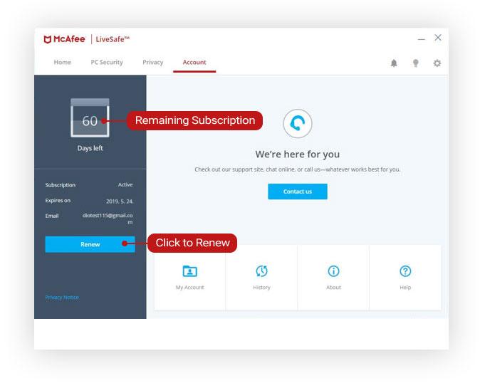 McAfee LiveSafe Renewal Tutorial | D-Link