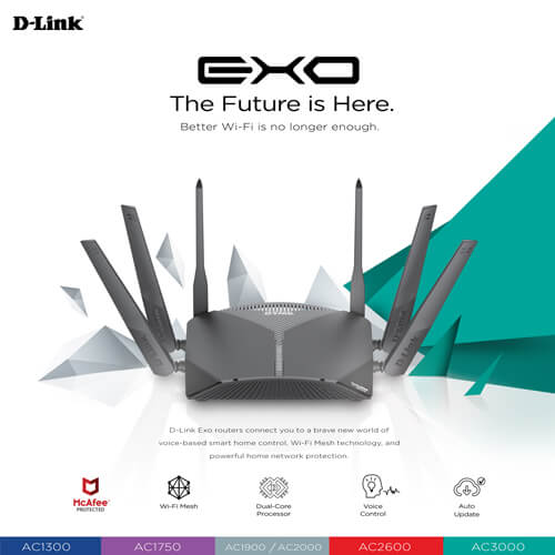 D-Link Introduces New Exo Router Series with McAfee Protection